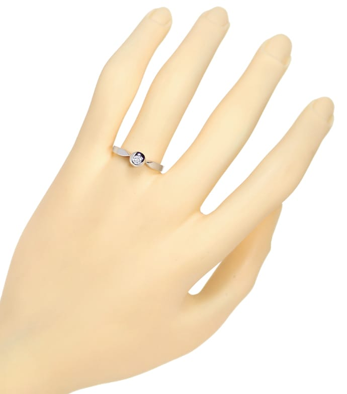 Foto 4 - Diamantring mit 0,10ct Brillant Solitär in 14K Weißgold, Q0800