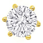 Diamantohrringe mit 0,56ct Brillanten in 750er Gelbgold