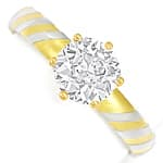 Designer Diamantring mit 1,33ct Diamant Solitaer in 18K