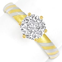 zum Artikel Designer Diamantring mit 1,33ct Diamant Solitaer in 18K, Q1189