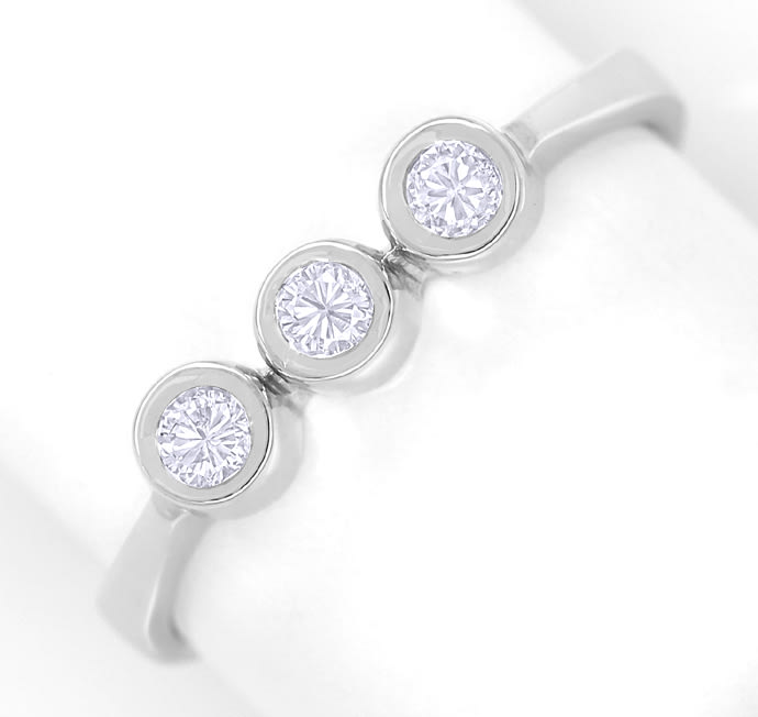 Foto 2 - Diamantring Trilogie mit 0,21ct Brillanten in Weissgold, Q1315