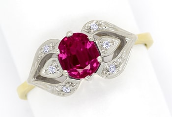 Foto 1 - Damen Diamanten Ring mit 0,90ct rotem Super Rubin, Q1355