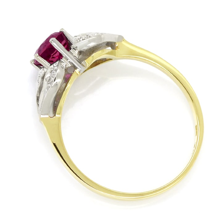 Foto 3 - Damen Diamanten Ring mit 0,90ct rotem Super Rubin, Q1355