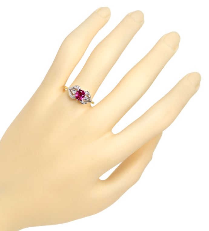 Foto 4 - Damen Diamanten Ring mit 0,90ct rotem Super Rubin, Q1355