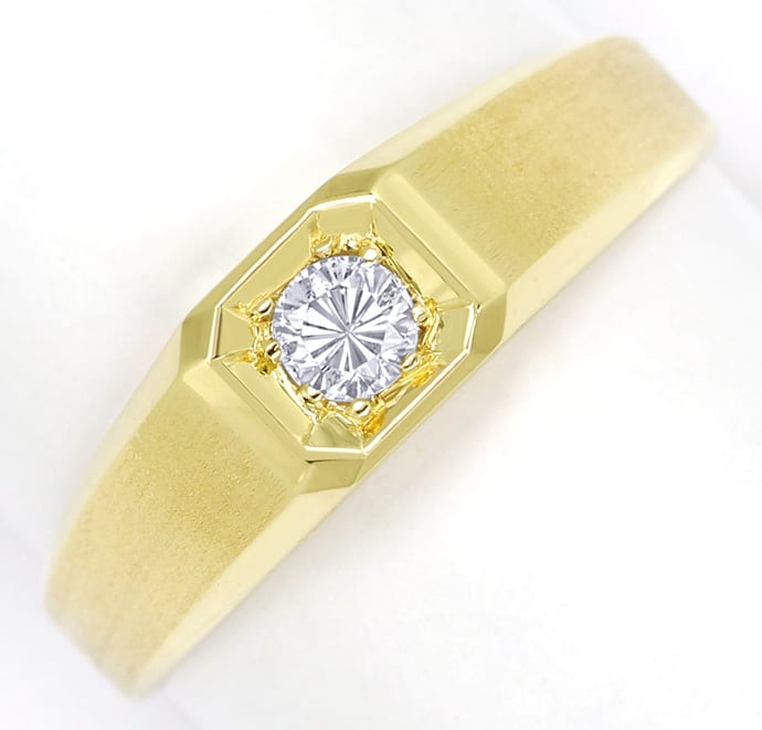 Foto 2, Diamantring mit 0,20ct Brillant Solitär in 14K Gelbgold, Q1361