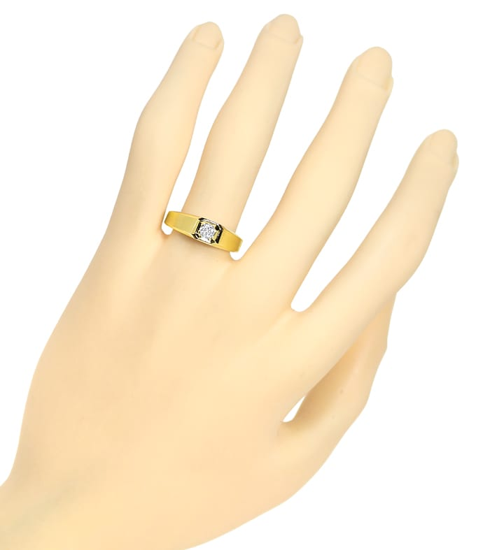 Foto 4, Diamantring mit 0,20ct Brillant Solitär in 14K Gelbgold, Q1361