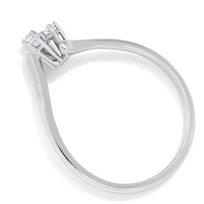 Foto 3 - Feiner Diamantring 0,10ct Brillanten in 585er Weissgold, Q1367