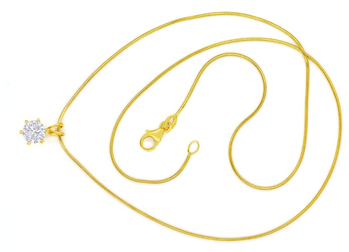 Foto 1 - Collier Brilliant 1,03ct River D Lupenrein GIA Gelbgold, Q1380