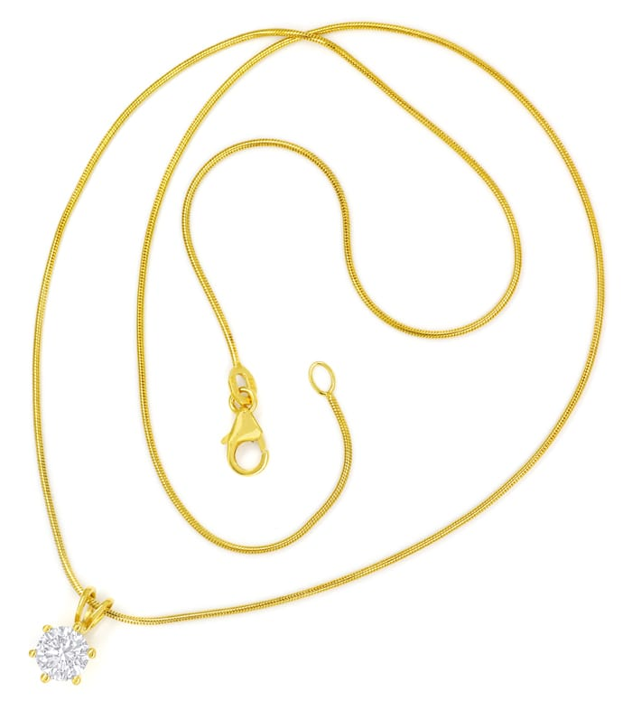Foto 3, Collier Brilliant 1,03ct River D Lupenrein GIA Gelbgold, Q1380