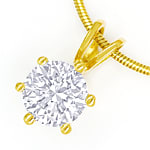 Collier Brilliant 1,03ct River D Lupenrein GIA Gelbgold