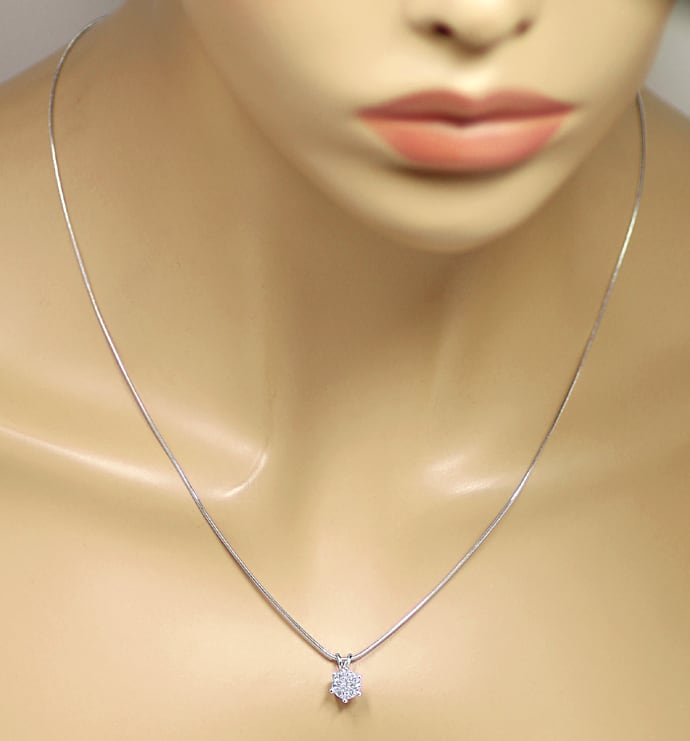 Foto 4 - Collier Brillant 1,03ct River D Lupenrein GIA Weissgold, Q1381