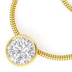 Gelbgold Collier, Brillant GIA 1,03ct River D Lupenrein