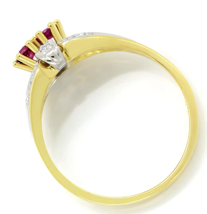 Foto 3, Diamantring 0,30ct Rubine und 0,11ct Diamanten 14K Gold, Q1417