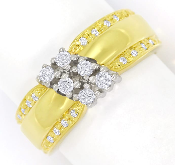 Foto 2 - Design Bandring mit Brillanten und Diamanten 585er Gold, Q1427