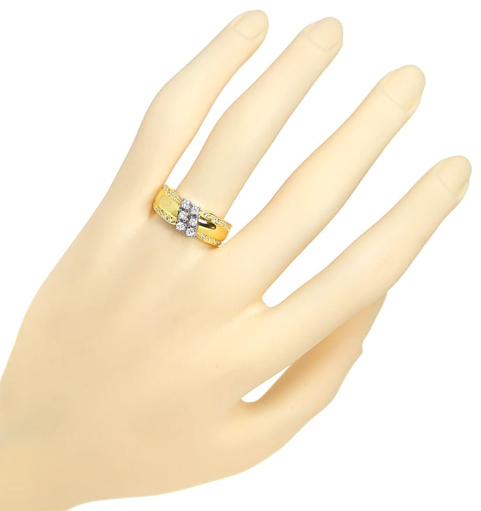 Foto 4 - Design Bandring mit Brillanten und Diamanten 585er Gold, Q1427