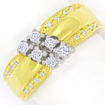 Design Bandring mit Brillanten und Diamanten 585er Gold