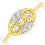 Femininer Diamantring mit 0,1ct Diamanten in 14K Gold