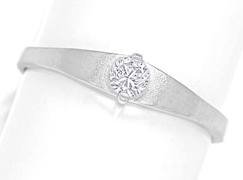 Foto 1, Design Diamantring 0,14ct Brillant 14K Weissgold, Q1453