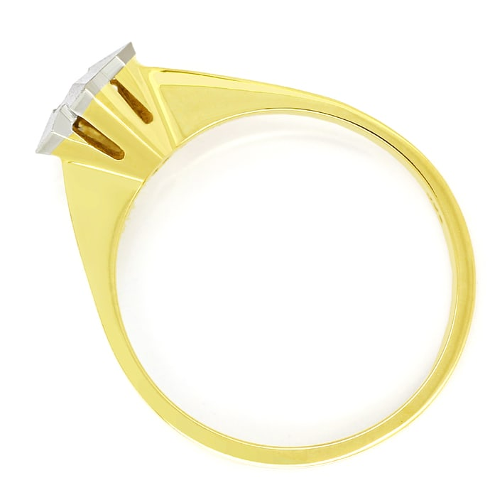 Foto 3 - Diamantring mit 0,10ct Brillant Solitär in Bicolor Gold, Q1460