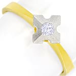 Diamantring mit 0,10ct Brillant Solitär in Bicolor Gold