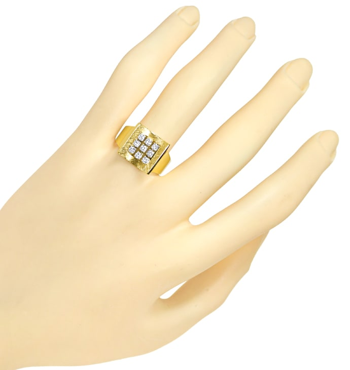 Foto 4, Design Ring 0,4ct Brillanten in 585er Gelbgold Weißgold, Q1466