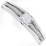 Designer Diamantring 0,11ct Brillant 14K Weißgold