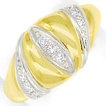 Design Bandring mit 0,12ct Diamanten in 14K Gold