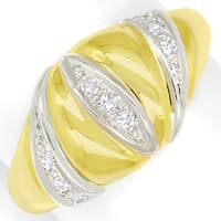 zum Artikel Design Bandring mit 0,12ct Diamanten in 14K Gold, Q1496