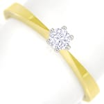 Diamantring 0,15ct Brillant Solitär in 14K Gold