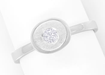 Foto 1 - Diamantring mit 0,14ct Brillant in 14K Weissgold, Q1499
