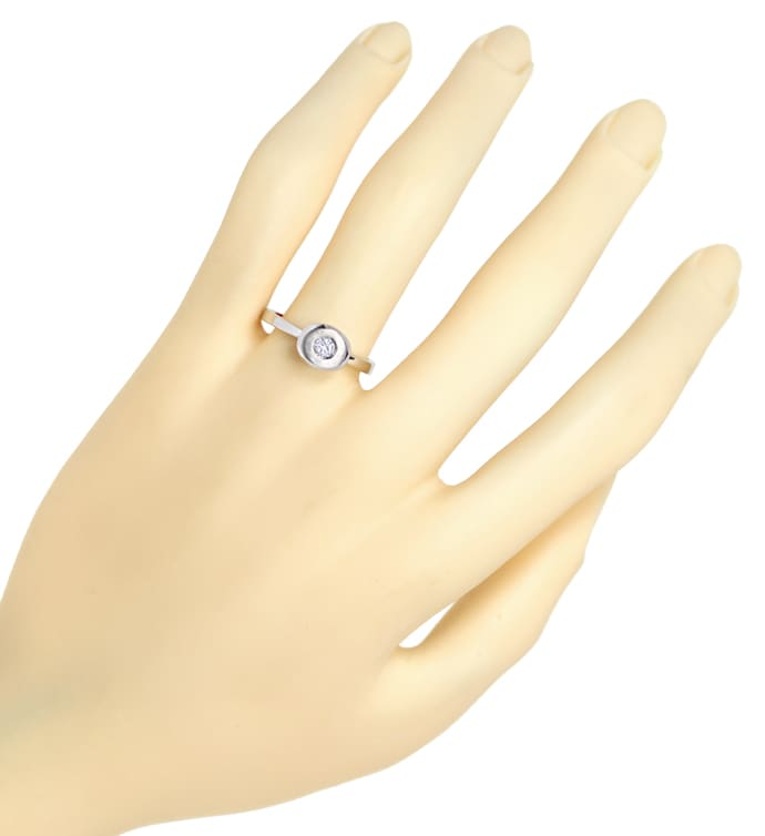 Foto 4 - Diamantring mit 0,14ct Brillant in 14K Weissgold, Q1499