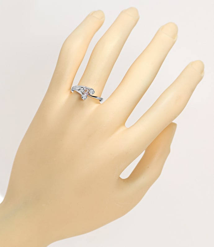 Foto 4, Design Diamantring mit 0,15ct Brillanten Weißgold, Q1522