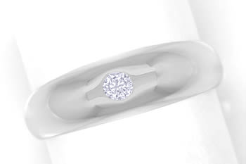 Foto 1, Diamantbandring 0,10ct Brillant in Weissgold, Q1523