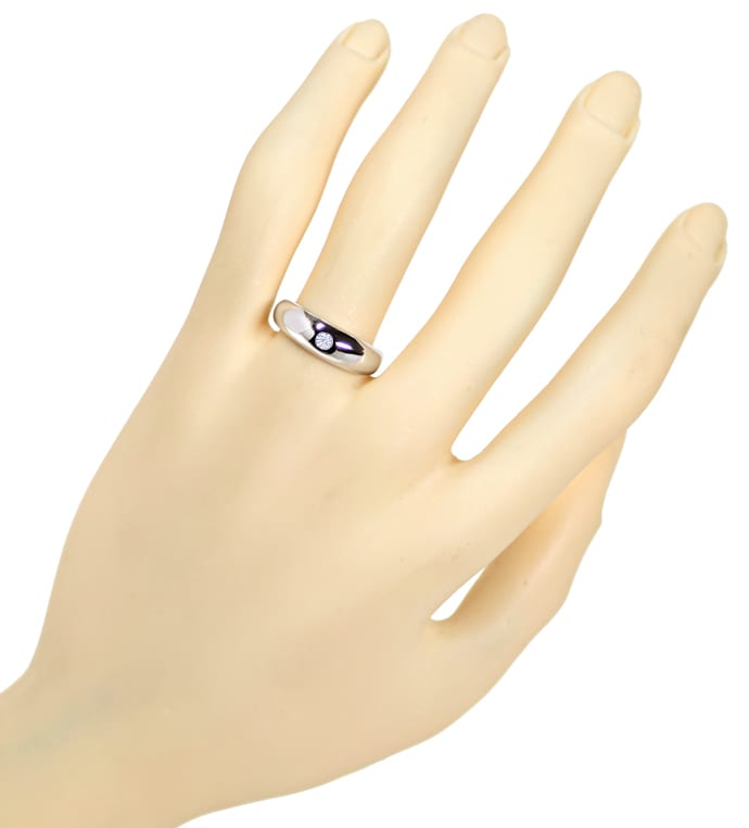Foto 4 - Diamantbandring 0,10ct Brillant in Weissgold, Q1523