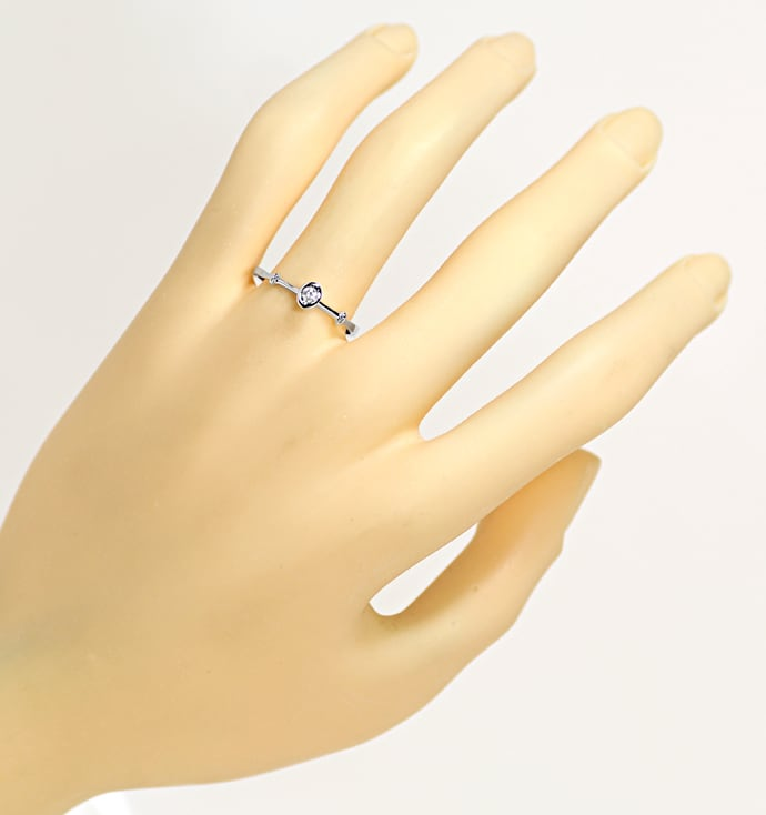 Foto 4 - Diamantring mit 0,04ct Brillant in 14K Weißgold, Q1526