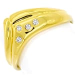 Diamantring mit 4 lupenreinen Brillanten 14K Gold