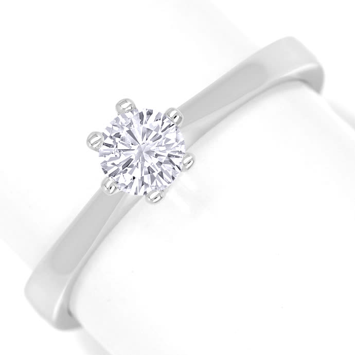 Diamantring 0,3ct Weiß Lupenrein Brillant IGI Expertise, Designer Ring