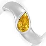 Weissgoldring Diamant Tropfen 0,5ct Fancy Orangy Yellow