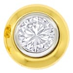 Diamant Ohrstecker 2,02ct Brillant Solitäre Gold Zargen