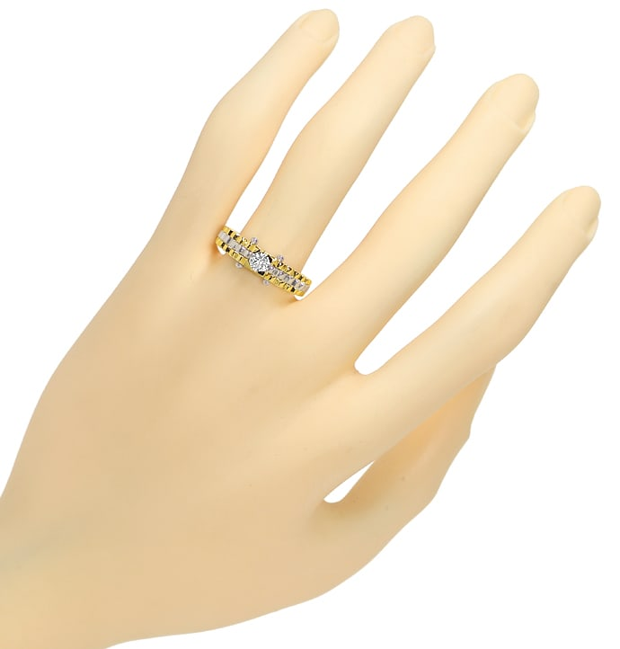Foto 4 - Design Goldring 0,25ct Lupenreiner Brillant Solitär IGI, Q1636