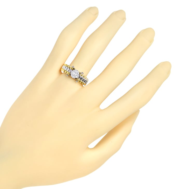Foto 4 - Designer Ring mit 0,66ct Brillant Solitär DPL Expertise, Q1651