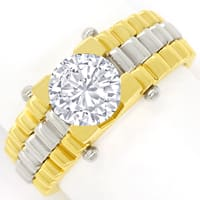 zum Artikel Diamantring mit 1,58ct Brillant Solitär in Bicolor Gold, Q1655