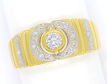 Foto 1 - Designer Diamantbandring mit 0,22ct Diamanten, 14K Gold, Q1659