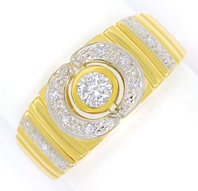 Foto 2 - Designer Diamantbandring mit 0,22ct Diamanten, 14K Gold, Q1659