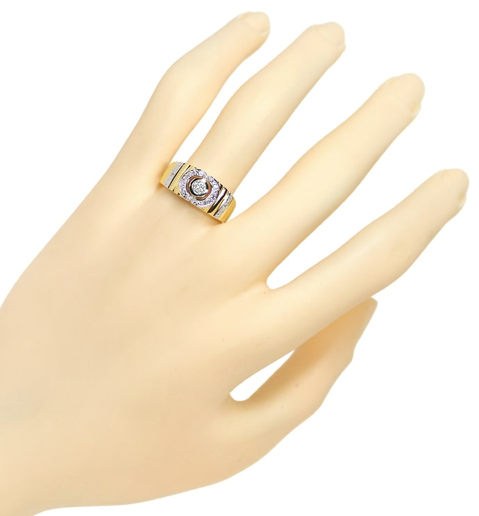 Foto 4 - Designer Diamantbandring mit 0,22ct Diamanten, 14K Gold, Q1659