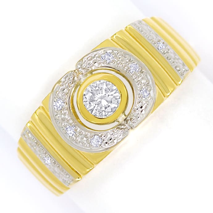 Designer Diamantbandring mit 0,22ct Diamanten, 14K Gold, Designer Ring