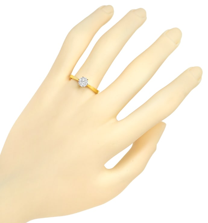 Foto 4 - Diamantring mit 0,65ct Solitär Brillant in 18K Gelbgold, Q1665