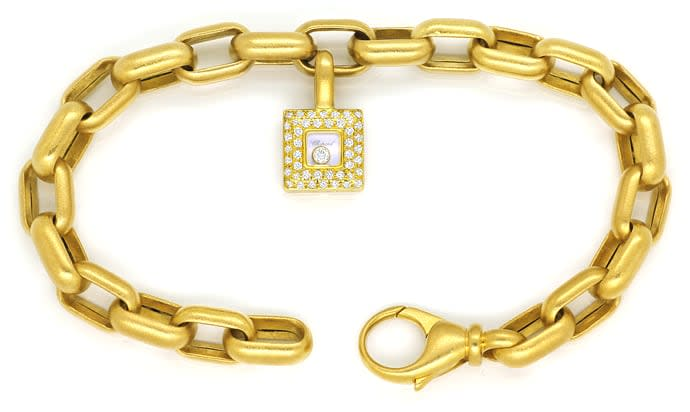 Foto 1, Chopard Happy Diamonds Armband Brillianten 18K Gelbgold, Q1684