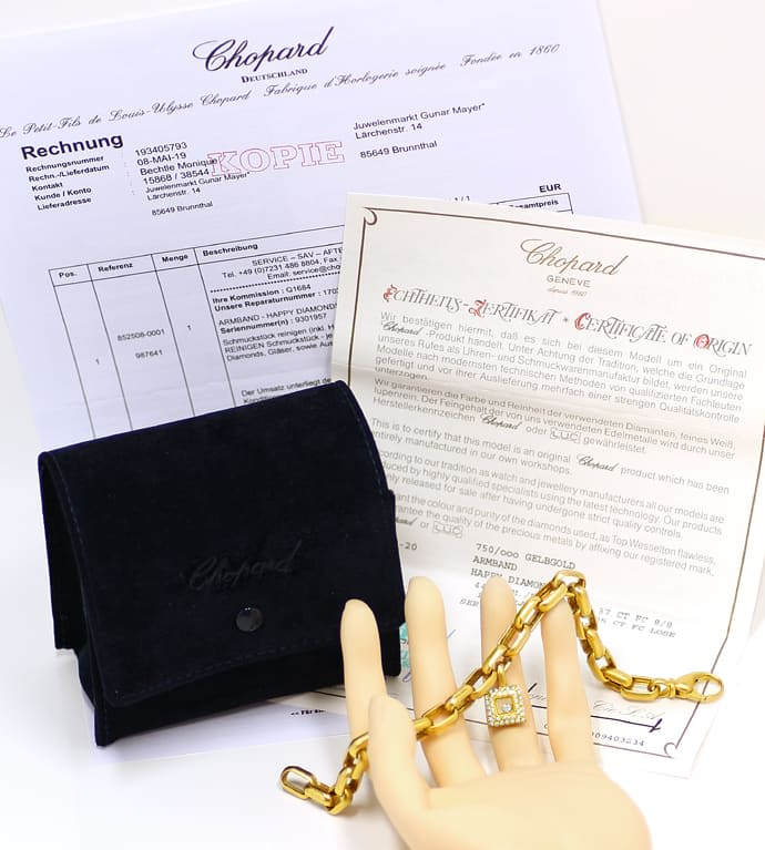 Foto 5, Chopard Happy Diamonds Armband Brillianten 18K Gelbgold, Q1684