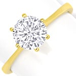 Best Diamantgoldring 1,03ct River D Lupenrein GIA 3x ex